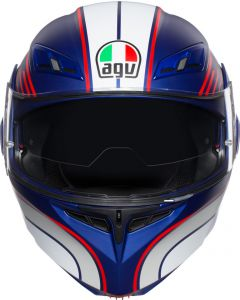 ΚΡΑΝΟΣ FLIP-UP COMPACT ST MULTI BOSTON MATT BLUE/WHITE/RED ΜΕ PINLOCK| AGV