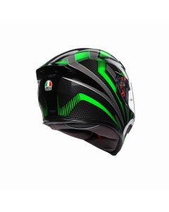ΚΡΑΝΟΣ K5 S HURRICANE 2.0 BLACK / GREEN MPINLOCK | AGV