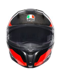 FLIP-UP ΚΡΑΝΟΣ SPORTMODULAR SHARP CARBON/RED/WHITE| AGV