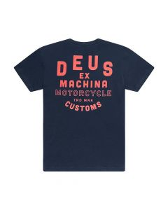 T-SHIRT MECHANO NAVY MARLE TEE  DMP91151D| DEUS EX MACHINA