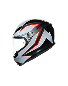 ΚΡΑΝΟΣ K6 MULTI FLASH MATT BLACK/GREY/RED MPLK| AGV