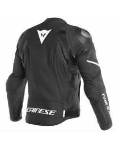 ΔΕΡΜΑΤΙΝΟ ΜΠΟΥΦΑΝ AVRO 4  LEATHER JACKET BLACK-MATT/ BLACK-MATT/ WHITE 1533810 | DAINESE