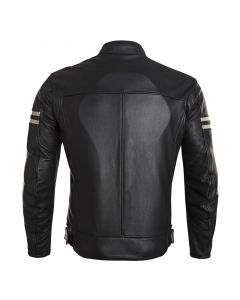 ΔΕΡΜΑΤΙΝΟ ΜΠΟΥΦΑΝ CAFE RACER CLASSIC JACKET 147 BLACK| ELEVEIT