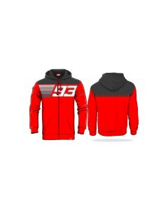 HOODIE NINETYTHREE RED / ANTHRACITE GREY 2023001| MARC MARQUEZ