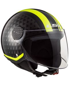 JET ΚΡΑΝΟΣ SPHERE LUX OF558 CRUSH BLACK / H-V YELLOW| LS2
